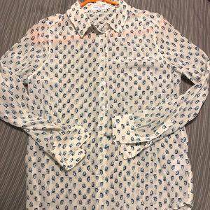 Equipment silk blouse size S